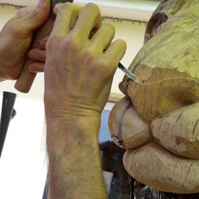 travail du museau aux ciseaux massette