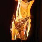 buste doré sous vêtements